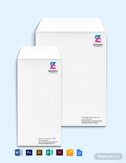Event Planner Envelope Template