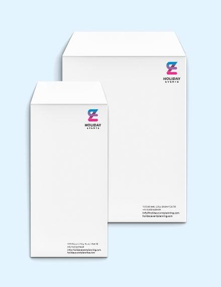 Event Planner Envelope Template