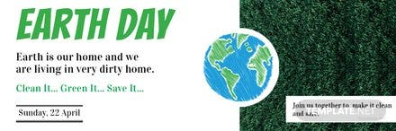 Free Earth Day Twitter Header Cover Template