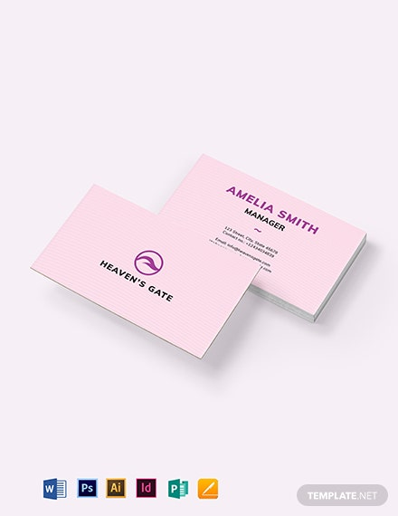 Massage Business Card Template
