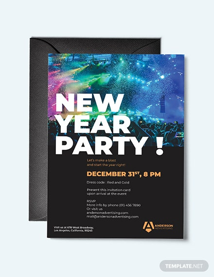 Advertising agency Invitations Template