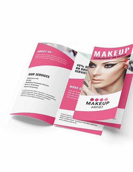 Makeup Artist Tri Fold Brochure Download