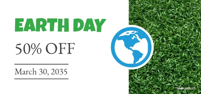 Earth Day Voucher Template