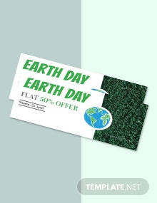 Free Earth Day Voucher Template