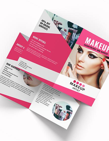 Makeup Artist Bi Fold Brochure Download