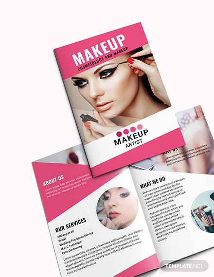 Sample Makeup Artist Bi Fold Brochure
