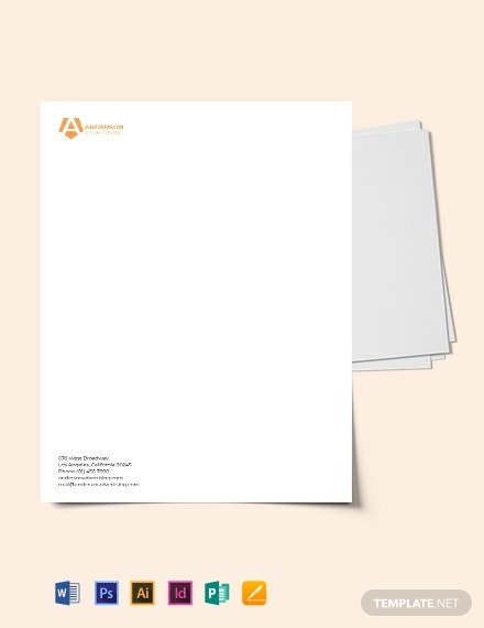 Advertising agency Letterhead Template