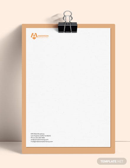 Editable Advertising agency Letterhead Template