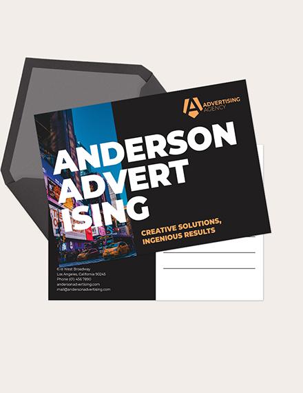 Advertising agency Postcard Download
