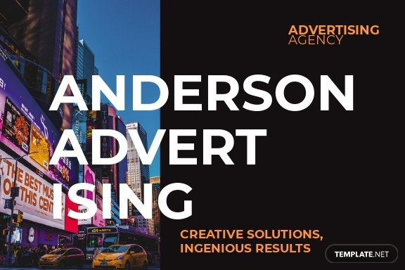 Advertising agency Postcard Template