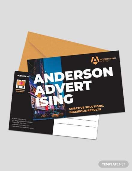 Advertising agency Post card Template