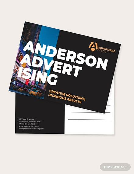 Sample Advertising agency Postcard