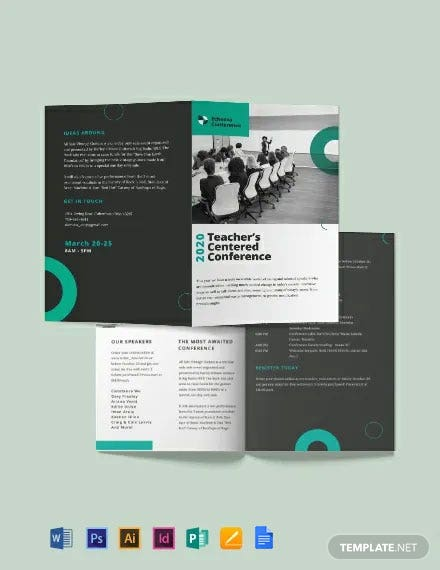 Conference Bi-Fold Brochure Template