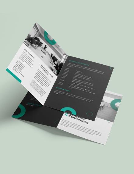 Sample Conference Bi Fold Brochure