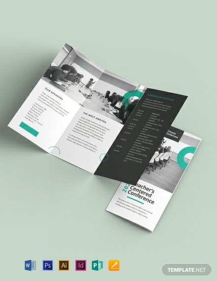 Conference Tri-Fold Brochure Template