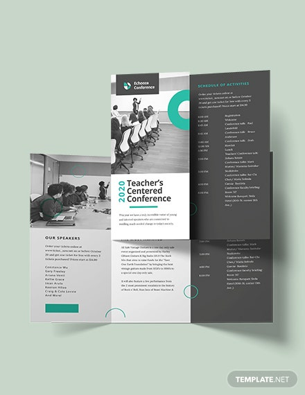 Sample Conference Tri Fold Brochure