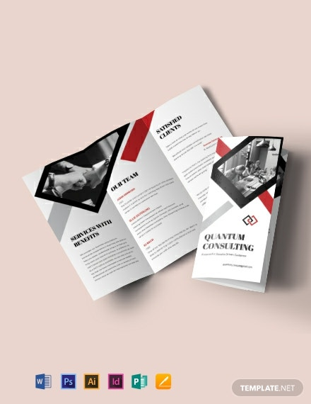 Consulting Tri-Fold Brochure Template