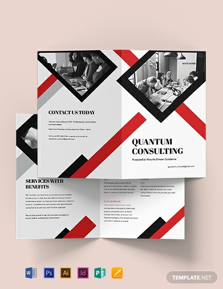 Consulting  Bi-Fold Brochure Template