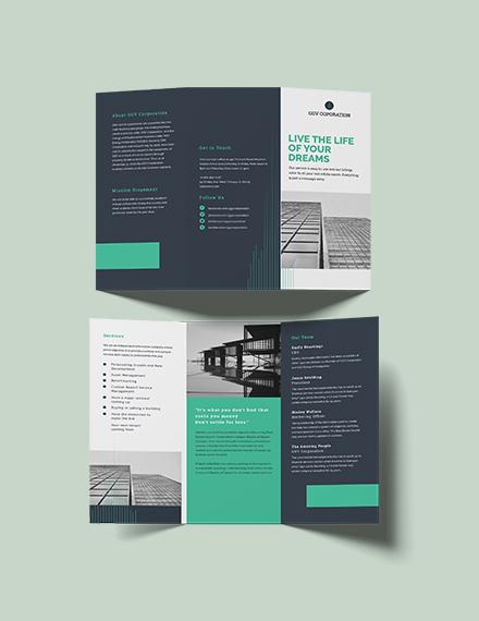 Corporate Tri-Fold Brochure Template