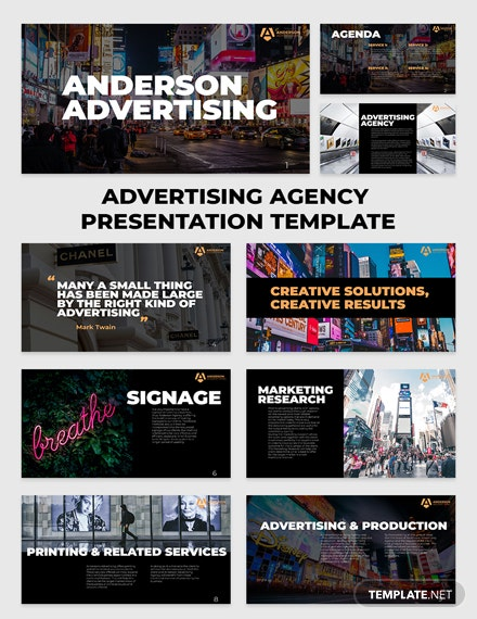 Advertising agency Presentation 15 slides Template