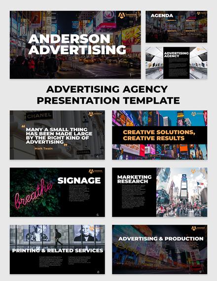Advertising agency Presentation 15 slides Template