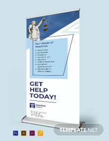 Law Firm Roll up Banner Template