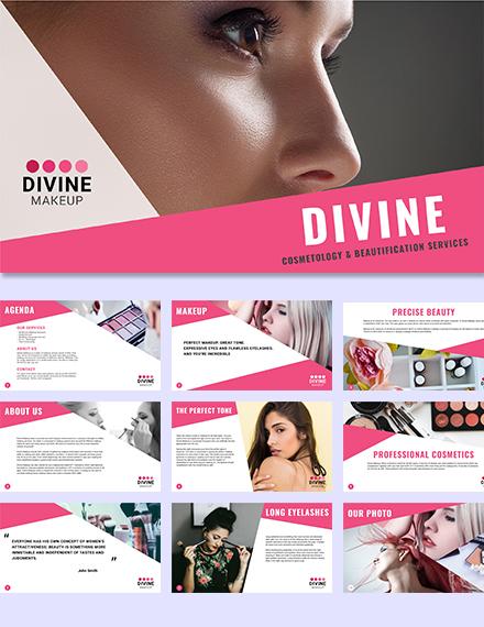 Makeup Artist Presentation Template