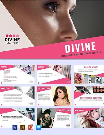Makeup Artist Presentation Template [Free Keynotes] - Illustrator, Apple Keynote, PowerPoint, PSD