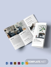 Tri-Fold Furniture Store Brochure Template