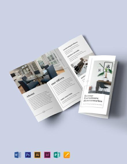 Tri-Fold Furniture Store Brochure Template