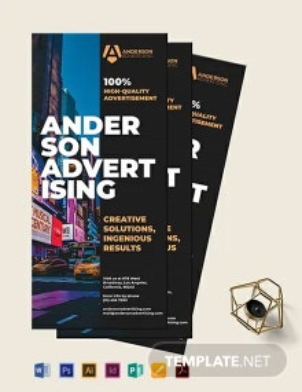 Advertising agency Rack card Template