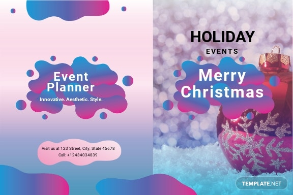 Event Planner Greeting Card Template