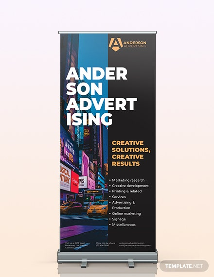 Advertising agency Roll up Banner Template
