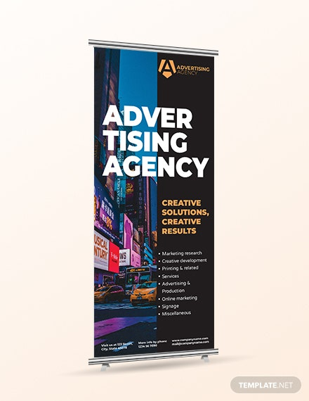 Download Advertising agency Rollup Banner Template