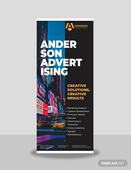 Advertising agency Rollup Banner Template