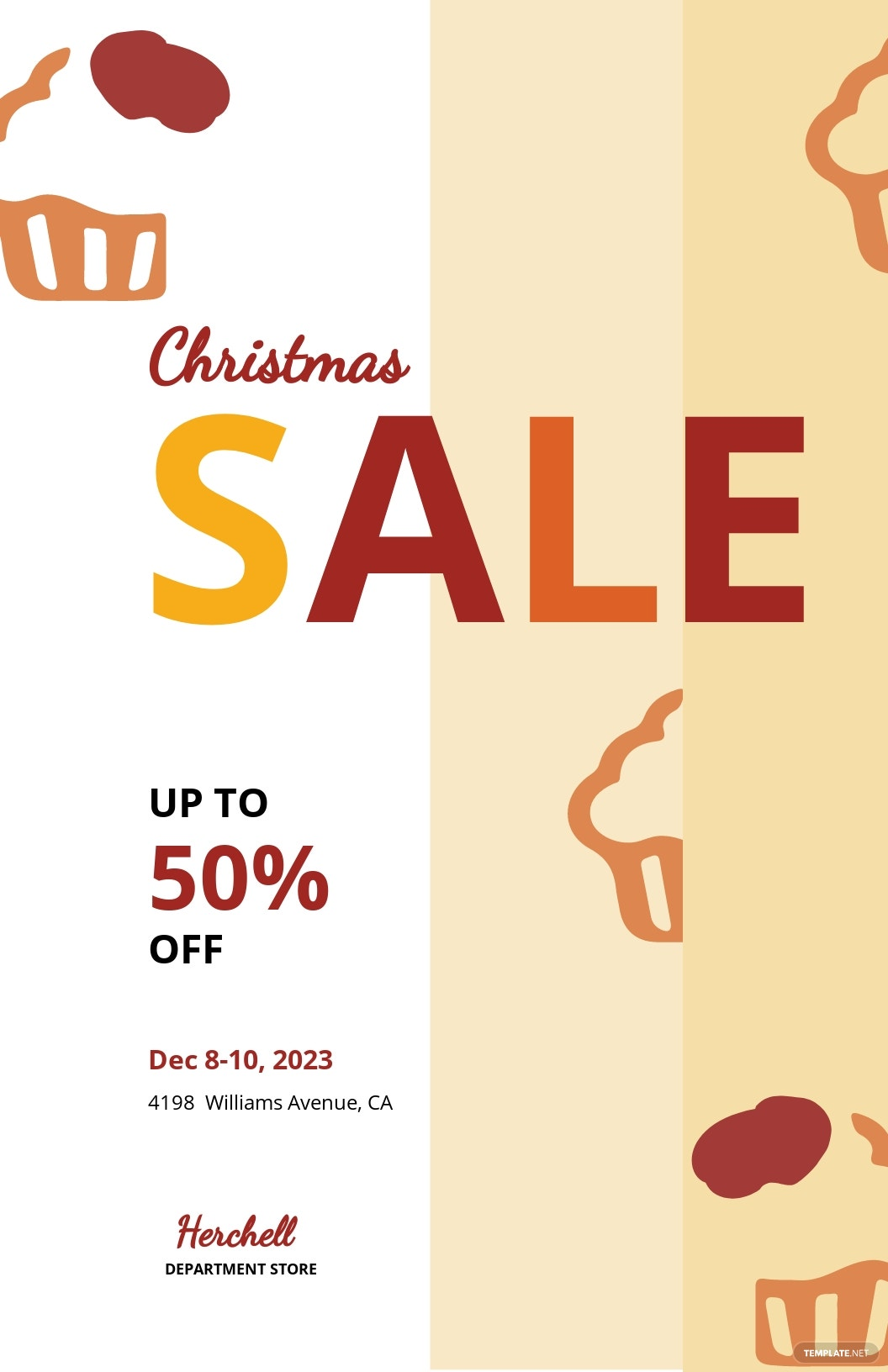 Free Christmas Bake Sale Poster Template