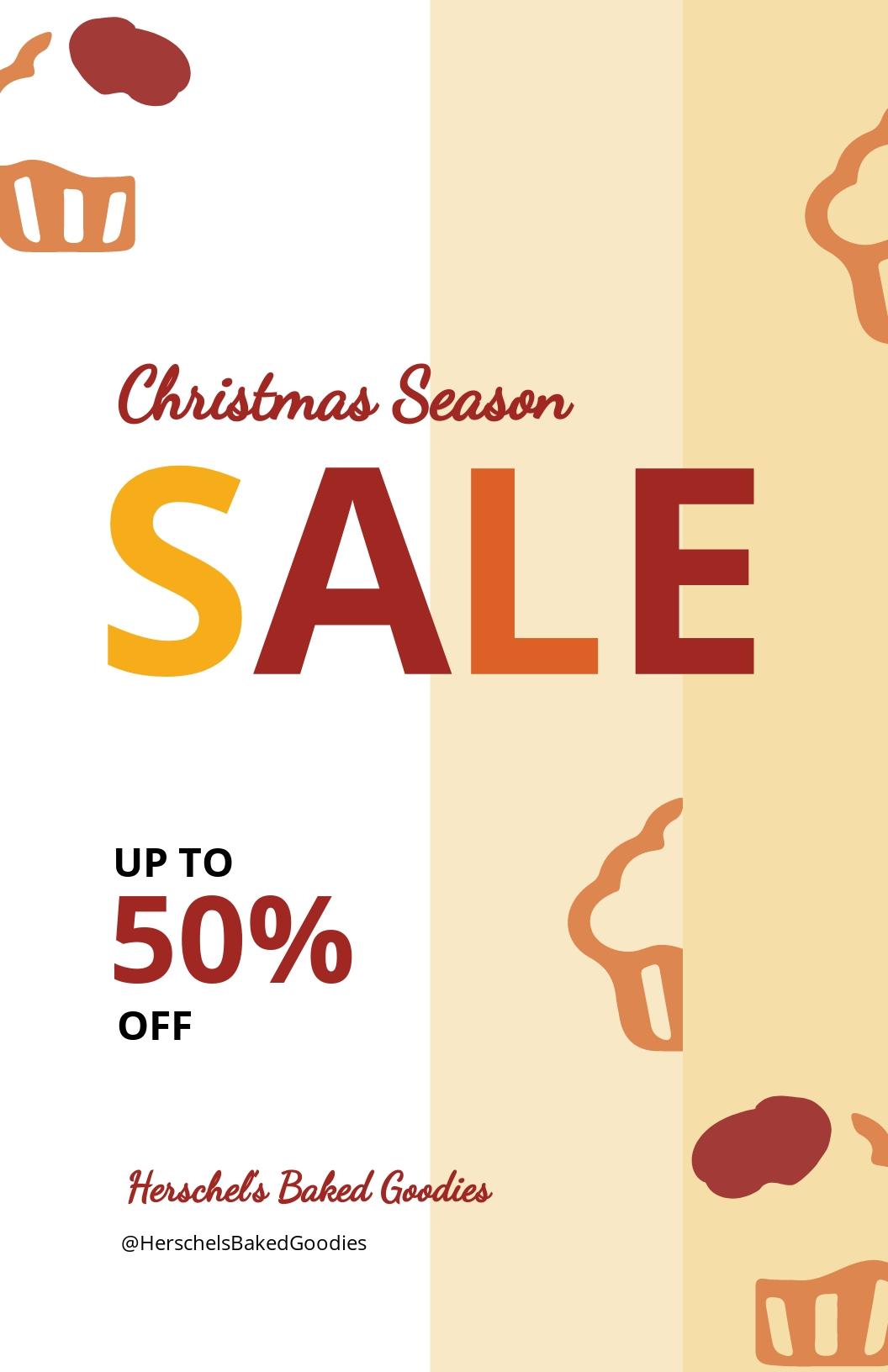 Christmas Bake Sale Poster Template
