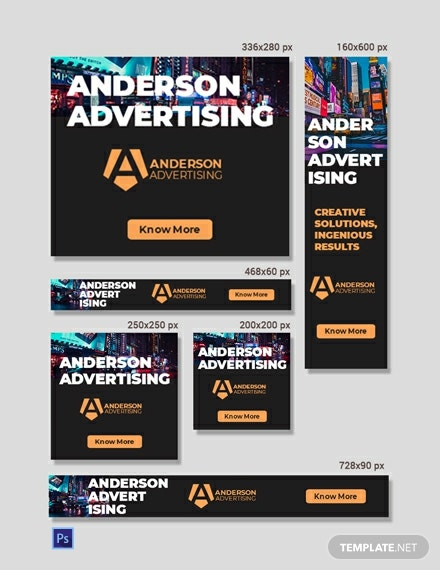 Advertising agency Web Ads Template