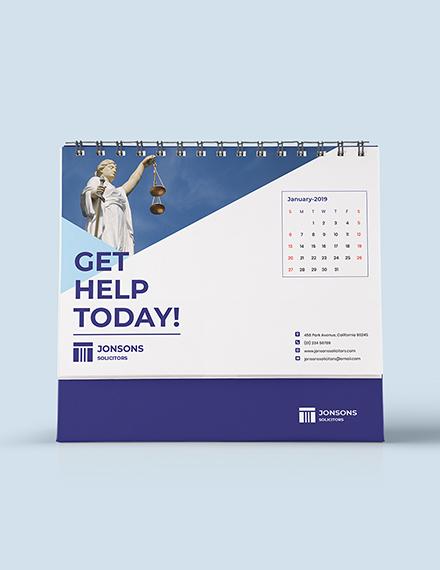 Law Firm Desk Calendar Download