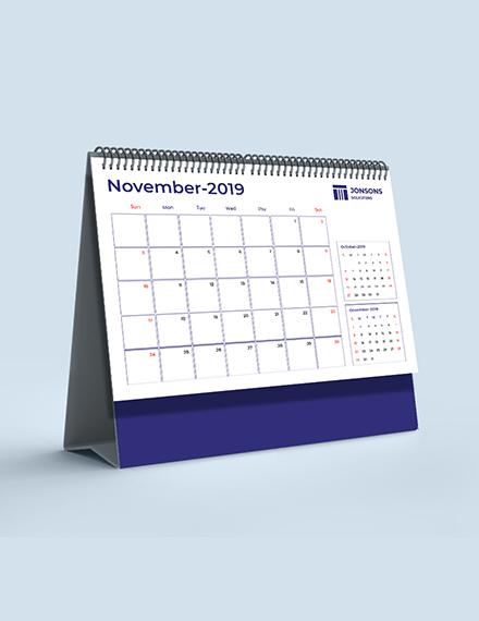 Sample Law Firm Desk Calendar