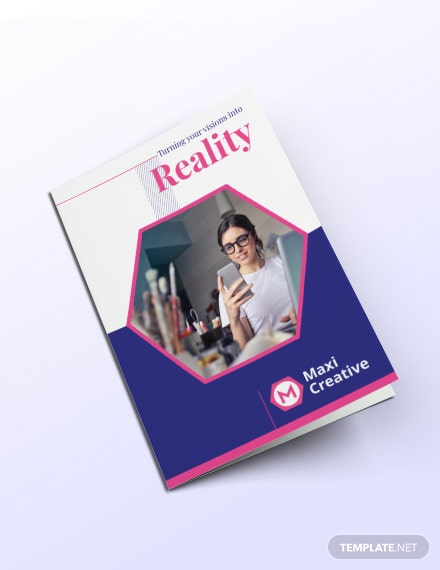 Creative Agency Bi fold Brochure Template
