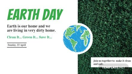 Free Earth Day YouTube Video Thumbnail Template