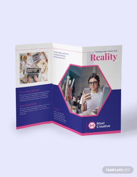 Creative Agency Tri Fold Brochure Download