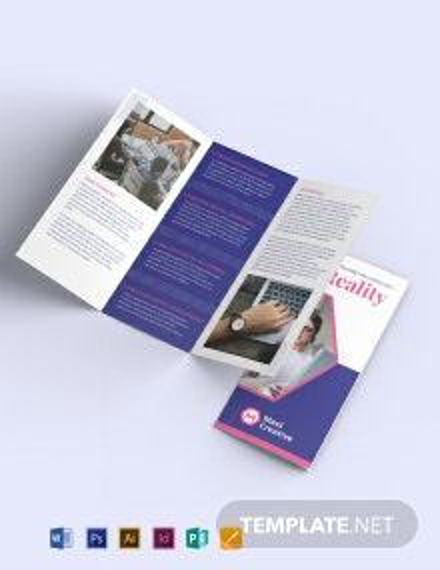 Creative Agency Tri-Fold Brochure Template