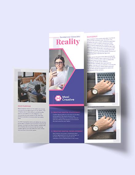 Sample Creative Agency Tri Fold Brochure