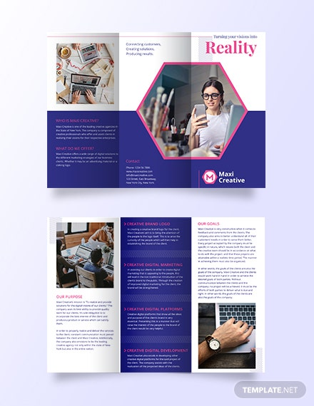 Creative Agency Tri Fold Brochure Template