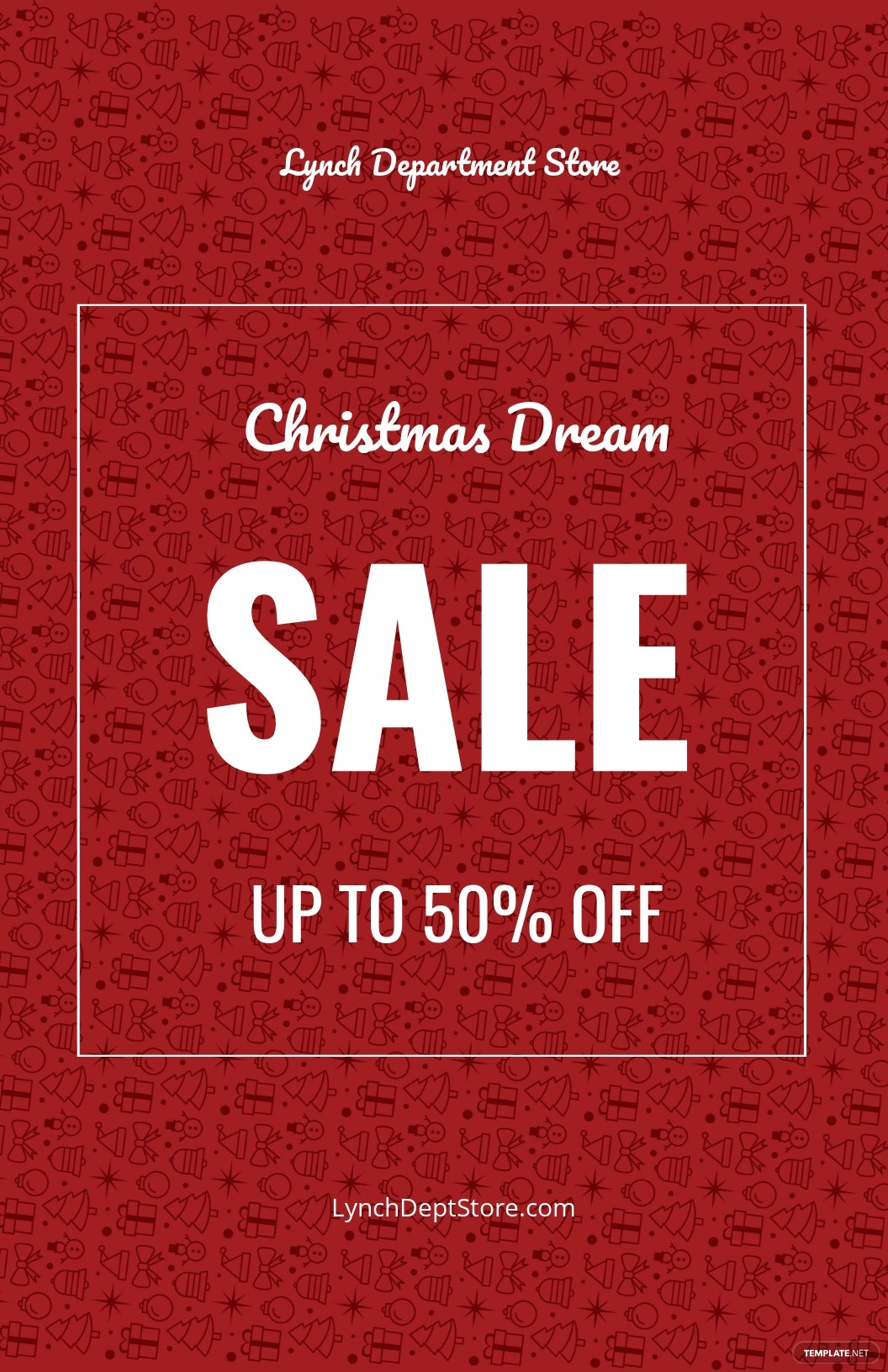 Christmas Dreams Sale Poster Template