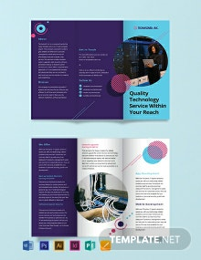 IT Company Tri-Fold Brochure Template