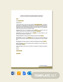 Free Letter Of Intent for College Graduate Program
