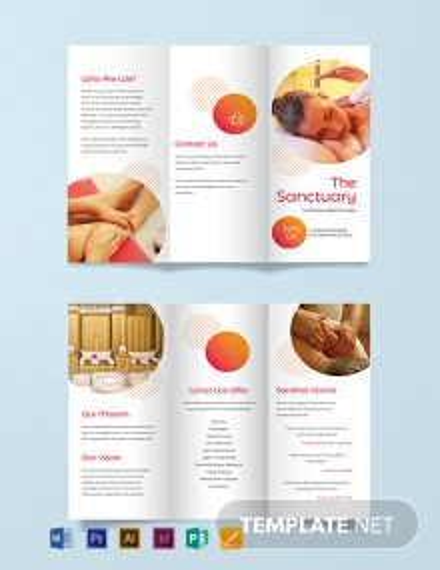 Massage Therapy Tri-Fold Brochure Template